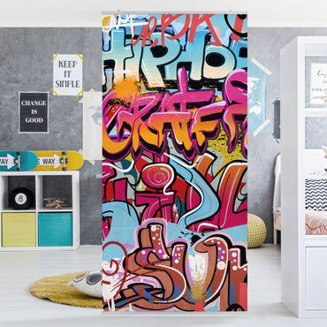 Raumteiler - HipHop Graffiti 250x120cm