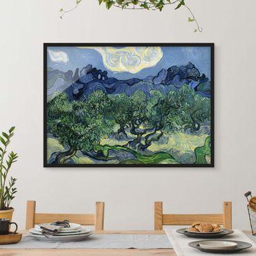Bild mit Rahmen - Vincent van Gogh - Olivenbäume - Querformat 3:4