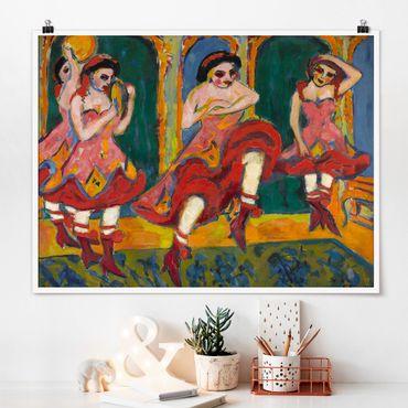 Poster - Ernst Ludwig Kirchner - Czardastänzerinnen - Querformat 3:4