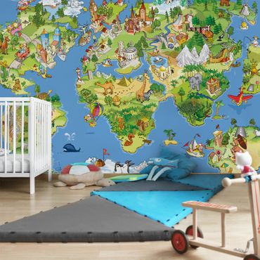 Fototapete Great and Funny Worldmap