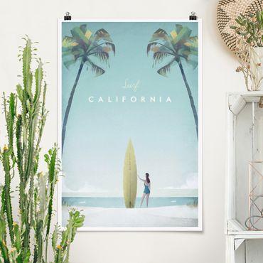 Poster - Reiseposter - California - Hochformat 3:2