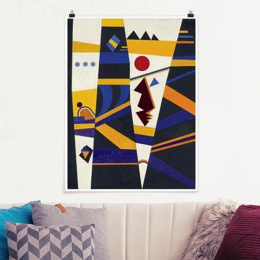 Poster - Wassily Kandinsky - Bindung - Hochformat 3:4