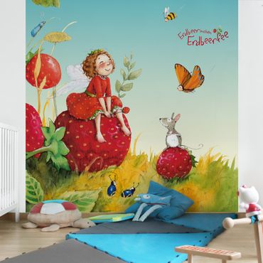 Fototapete Erdbeerinchen Erdbeerfee - Zauberhaft