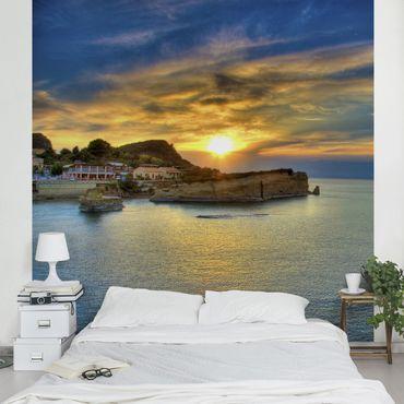 Fototapete Sonnenuntergang über Korfu