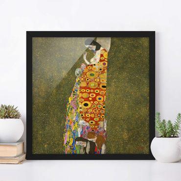 Bild mit Rahmen - Gustav Klimt - Die Hoffnung II - Quadrat 1:1