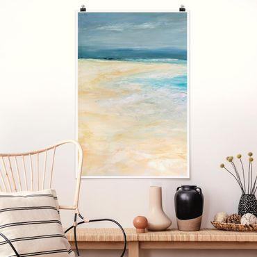 Poster - Sturm auf dem Meer I - Hochformat 3:2