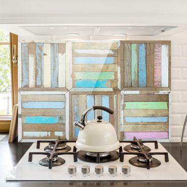 Spritzschutz Glas - Rustic Timber - Querformat - 3:2