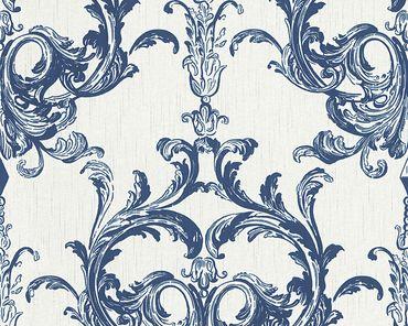 Architects Paper Mustertapete Tessuto 2 in Blau, Weiß