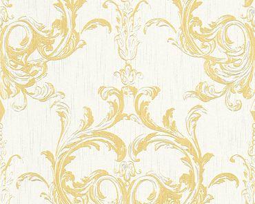 Architects Paper Mustertapete Tessuto 2 in Gelb, Weiß
