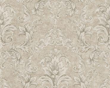Versace wallpaper Strukturtapete Versace 2 Pompei in Beige, Grau, Metallic