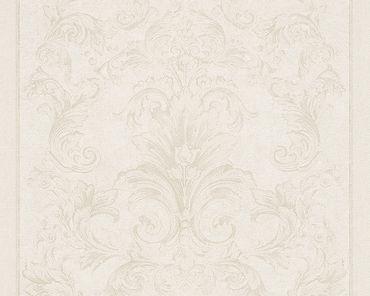 Versace wallpaper Strukturtapete Versace 2 Pompei in Creme, Metallic, Weiß