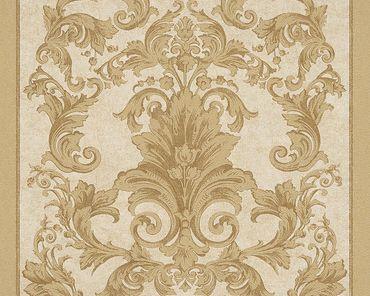 Versace wallpaper Strukturtapete Versace 2 Pompei in Braun, Gelb, Metallic
