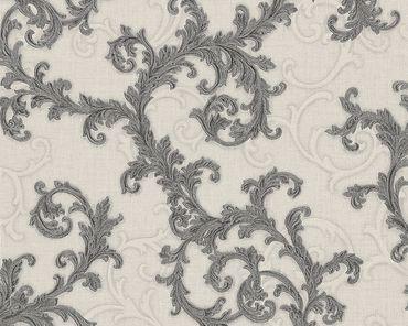 Versace wallpaper Strukturtapete Versace 2 Baroque & Roll in Grau, Metallic, Weiß