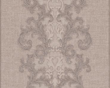 Versace wallpaper Strukturtapete Versace 2 Baroque & Roll in Braun, Grau, Metallic