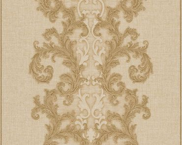Versace wallpaper Strukturtapete Versace 2 Baroque & Roll in Beige, Metallic