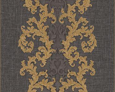 Versace wallpaper Strukturtapete Versace 2 Baroque & Roll in Grau, Metallic, Schwarz