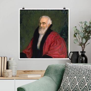 Poster - Franz von Stuck - Bildnis Lujo Brentano - Quadrat 1:1