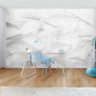 Schiebegardinen Set - Abstrakte 3D Optik - Flächenvorhänge