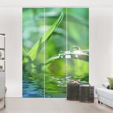Schiebegardinen Set - Green Ambiance II - Flächenvorhänge