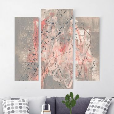 Leinwandbild 3-teilig - Erröten I - Galerie Triptychon