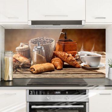 Spritzschutz Glas - Frühstückstisch - Querformat - 2:1