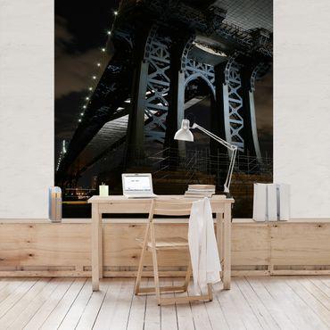 Fototapete Manhattan Bridge bei Nacht