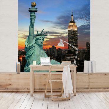 Fototapete New York at Night
