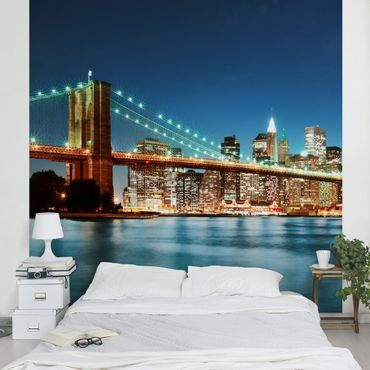 Fototapete Nighttime Manhattan Bridge