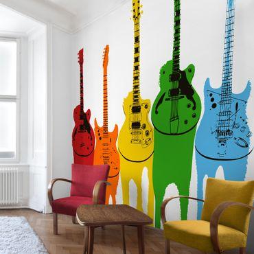 Fototapete Retro Guitars