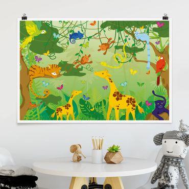 Poster - No.IS87 Dschungelspiel - Querformat 2:3