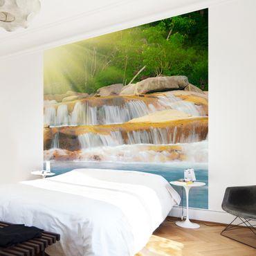 Fototapete Wasserfall Lichtung