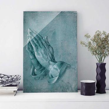 Glasbild - Albrecht Dürer - Studie zu Betende Hände - Hochformat 3:2