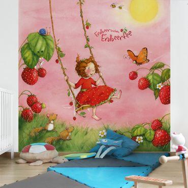 Fototapete Erdbeerinchen Erdbeerfee - Baumschaukel