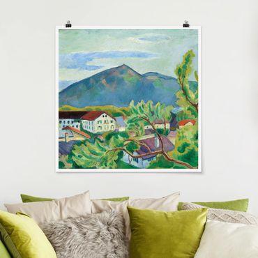 Poster - August Macke - Frühlingslandschaft in Tegernsee - Quadrat 1:1