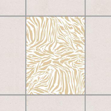 Fliesenaufkleber - Zebra Design Light Brown Braun