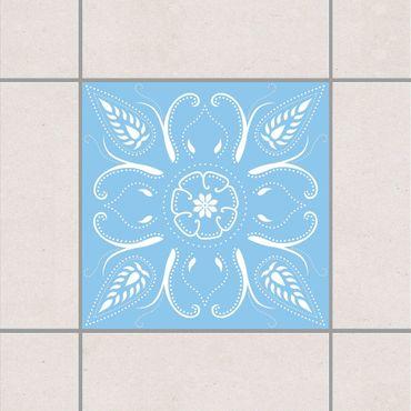 Fliesenaufkleber - Bandana Light Blue Blau