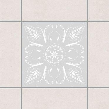 Fliesenaufkleber - Bandana Light Grey Grau