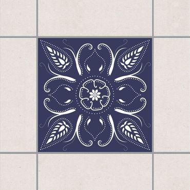 Fliesenaufkleber - Blaue Bandana