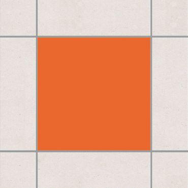 Fliesenaufkleber - Colour Orange