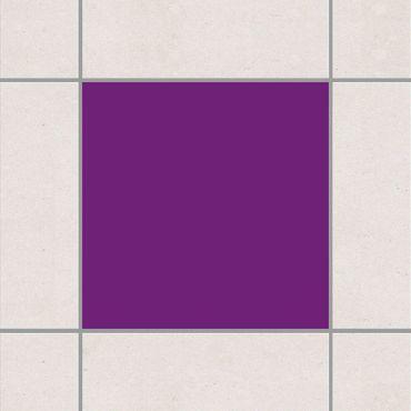 Fliesenaufkleber - Colour Purple Violett