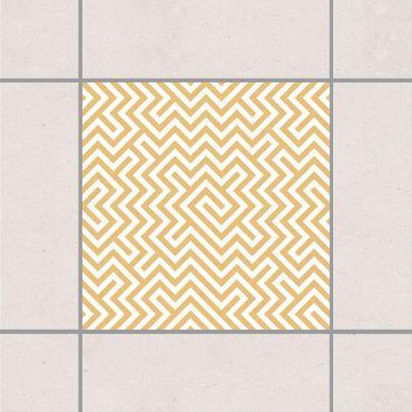 Fliesenaufkleber - Geometrisches Musterdesign Gelb