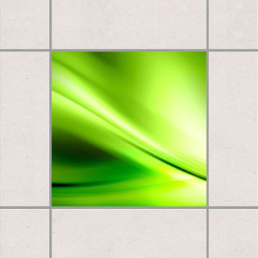 Fliesenaufkleber - Green Valley Grün