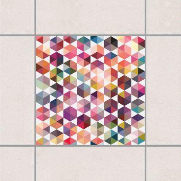 Fliesenaufkleber - Hexagon Facetten