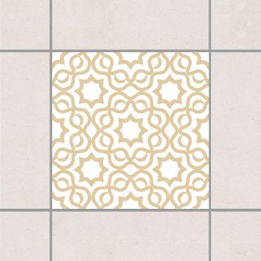 Fliesenaufkleber - Islamic White Light Brown Braun