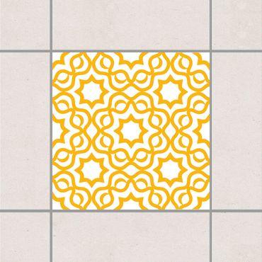 Fliesenaufkleber - Islamic White Melon Yellow Gelb