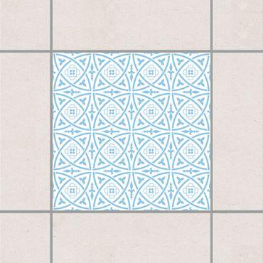 Fliesenaufkleber - Keltisch White Light Blue Blau