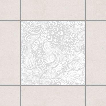 Fliesenaufkleber - Poseidons Garten Light Gray