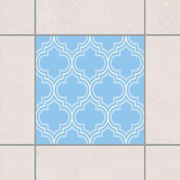 Fliesenaufkleber - Retro Marokko Light Blue Blau
