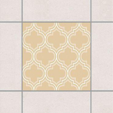 Fliesenaufkleber - Retro Marokko Light Brown Braun