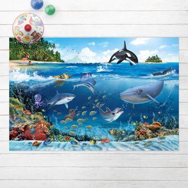 Vinyl-Teppich - Animal Club International - Unterwasserwelt mit Tieren - Querformat 3:2